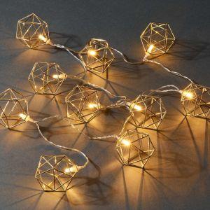 """GEOMETRICS - LED λαμπάκια χρυσό """"γεωμετρικά σχέδια"""""""