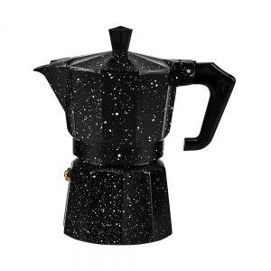 ESPERTO - μηχανή καφέ 3 κούπες μαύρο με στίγματα