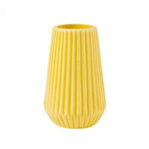 RIFFLE - βάζο από πορσελάνη 13,5cm κίτρινο