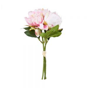 FLORISTA - μπουκέτο παιώνιας ανοιχτό ροζ