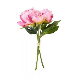 FLORISTA - μπουκέτο παιώνιας σκούρο ροζ