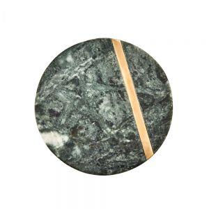 MARBLE - σουβέρ πράσινο με χρυσό