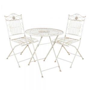 TERRACE HILL - σετ 2 καρέκλες και ένα τραπέζι, λευκό rusty