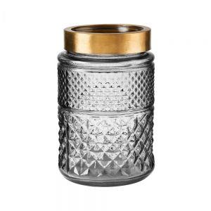 GRACE - βάζο 20cm γκρι/χρυσό