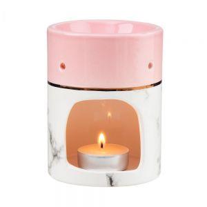 AMBIANCE - βάση για αρωματικό έλαιο ή κερί μάρμαρο-ροζ