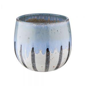 TERRANO - κασπό O13 cm ρίγες, μπλε