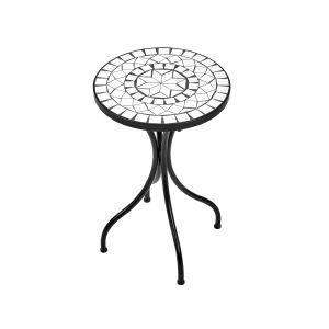 PALAZZO - βοηθητικό τραπέζι λευκό Δ 35 cm