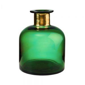 PRETTY GRACE - βάζο 23cm πράσινο/χρυσό