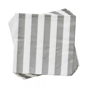 APRES - χαρτοπετσέτες ριγέ γκρι