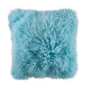 TASHI - μαξιλάρι από θιβετιανό αρνί 40x40 ανοιχτό μπλε