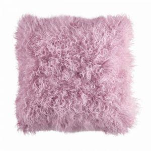 TASHI - μαξιλάρι από θιβετιανό αρνί 40x40 ροζ