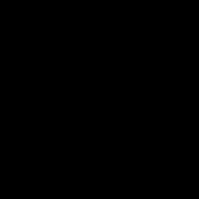 COLOUR CLASH - χαλί με μοτίβο μπλε τρίγωνα 150x90