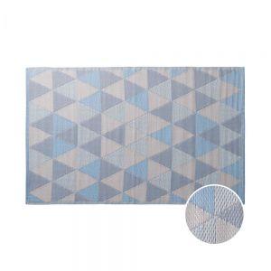 COLOUR CLASH - χαλί με μοτίβο μπλε τρίγωνα 180x120