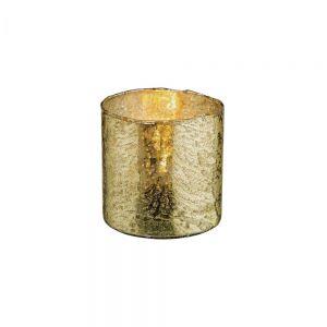 DELIGHT - κηροπήγιο για ρεσό 8cm, σκούρο χρυσό