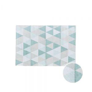 SILENT DANCER - χαλί με σχέδιο τρίγωνα μπλε 60x90