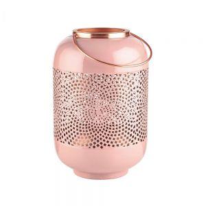 EMILIE - μεταλλικό φανάρι ροζ 30cm