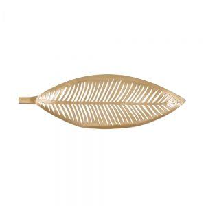 GOLDEN NATURE - διακοσμητική πιατέλα, χρυσή
