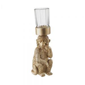 GOLDEN NATURE - διακοσμητική μαϊμού με ρεσό