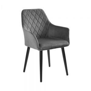 VELVET - καρέκλα γκρι