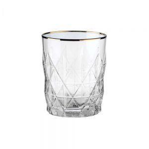 UPSCALE - Ποτήρι με χρυσό στο χείλος 345 ml