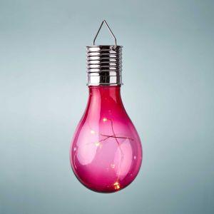 SUNLIGHT - κρεμαστή λάμπα ηλιακής ενέργειας, ροζ