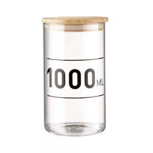 WOODLOCK - γυάλινο δοχείο αποθήκευσης με τύπωμα 1000 ml