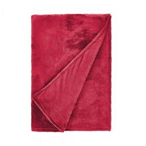 LAZY DAYS - κουβέρτα fleece κόκκινη 150x200cm