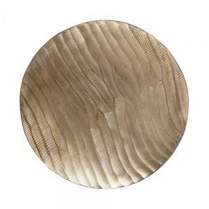 LUNA - διασκομητική πιατέλα O33cm, χρυσό