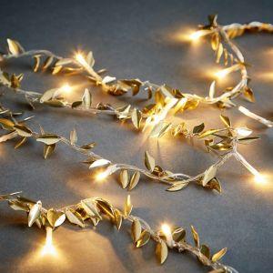 CAESAR - LED λαμπάκια με χρυσά φύλλα