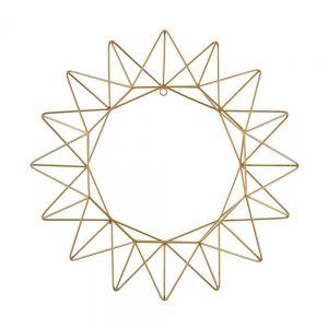 X-MAS - διακοσμητικό μεταλλικό αστέρι 42cm, χρυσό