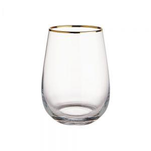 TOUCH OF GOLD - ποτήρι με χρυσό χείλος 590ml