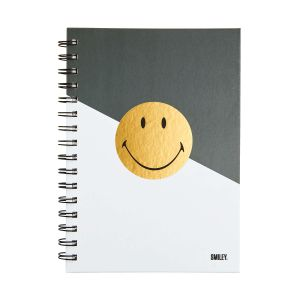 SMILEY - σημειωματάριο Smiley χρυσό