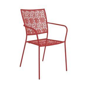 NANCY - κόκκινη καρέκλα με μπράτσα