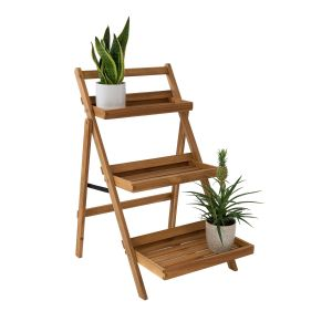 NEW GARDENING - σκάλα για φυτά 3 επίπεδα, πτυσσόμενη
