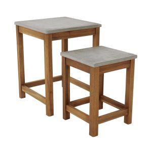 CONCRETE - τραπέζια, σετ των 2 τεμαχίων