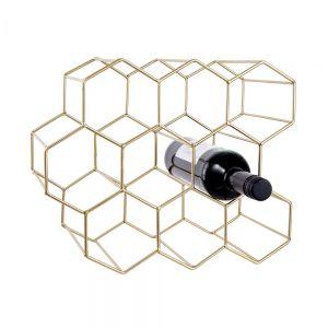 CUBICLE - κάβα για 9 μπουκάλια, χρυσή
