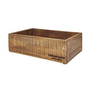 STANDARD SUPPLY - ξύλινο κουτί σκούρο ορθογώνιο 32cm x 24cm