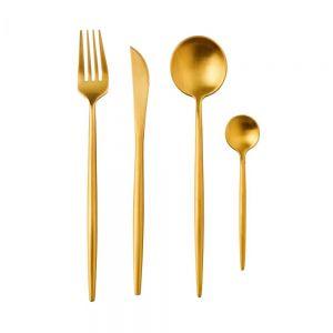 STILETTO - μαχαιροπίρουνα σετ των 4τεμ χρυσό ματ