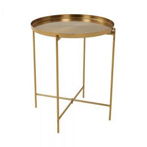 AURIA - βοηθητικό τραπέζι χρυσό με πτυσσόμενο πλαίσιο