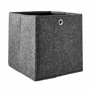 TIDY UP - αναδιπλούμενο κουτί αποθήκευσης από τσόχα 30cm ανθρακί