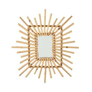 COTTAGE - καθρέφτης rattan ορθογώνιος