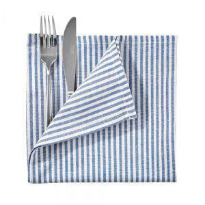 BLUE DAYS - πετσέτα, μπλε, λευκό, 45x45 cm