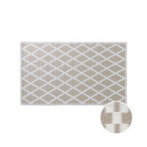 COLOUR CLASH - χαλί κατάλληλο για εσωτερικούς και εξωτερικούς χώρους με ρόμβους φυσικό 150x90