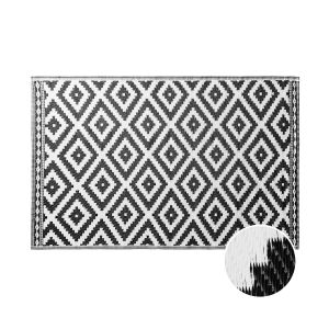 COLOUR CLASH - χαλί Ethnic με ρόμβους μαύρο 180x120