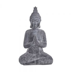 BUDDHA - άγαλμα Βούδας 71cm,grey