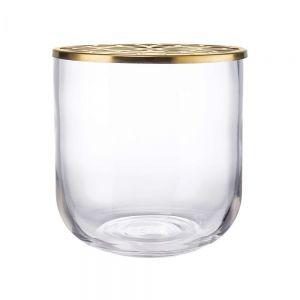 CADENTZA - γυάλινο βάζο με μεταλλική κορυφή χρυσό