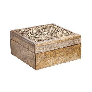 TREASURE - τετράγωνο κουτί με σκάλισμα