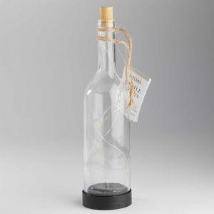 BOTTLE LIGHTS - γυάλινο μπουκάλι με LED λαμπάκια ηλιακής ενέργειας διαφανές