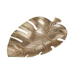 GOLDEN NATURE - διακοσμητικό μπολ monstera, 30cm
