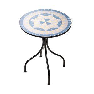PALAZZO - τραπέζι O55cm μπλε-κρεμ